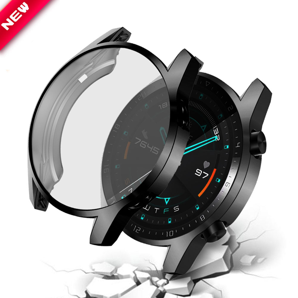 2PCS Soft TPU Case For Huawei Watch GT2 46mm Bumper Protector For Watch GT 2 Cover Watch Accessorie