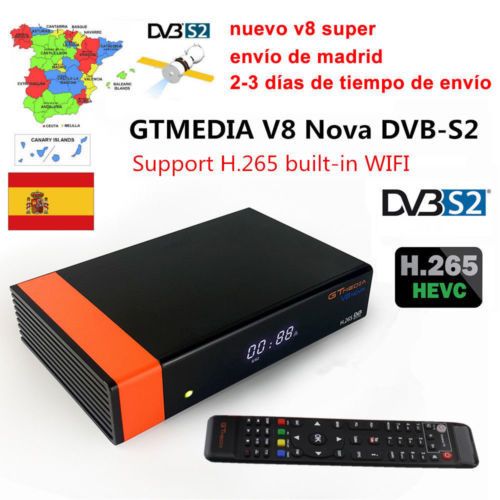 Gtmedia V8 NOVA Built-in WIFI 1080P DVB-S2 With 1.5 Year Cccam Cline Support IPTV Play On Mobile Phone TV Box Same As V9 SUPER