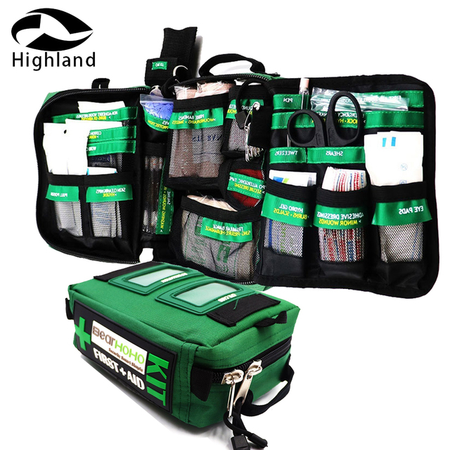 165-Piece Emergency Medical Rescue First Aid Kit Bag for Workplace Outdoors Car Luggage Adventure Trips Hiking Survival Kits