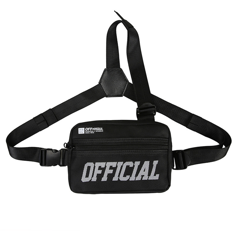 Hip Hop Men Chest Bag Fashion Unisex Chest Rig Pack 2020 New Arrivals Women Waist Bags Streetwear Tactical Vest Male IPad Pocket