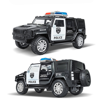 1:43 Simulation Kids Police Toy Car Model Pull Back Alloy Diecast Off-road Vehicles Collection Gifts Toys for Boys Children S028 image