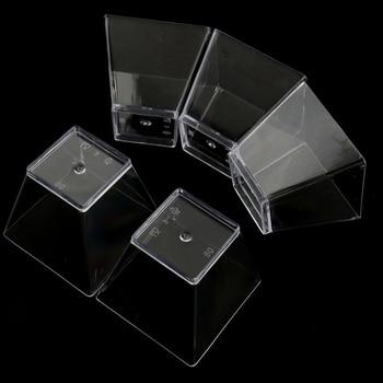 New 50Pcs Mini Small Plastic Square Dessert Cup Sauce Starter Party Tableware Decor
