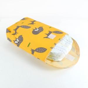 Image 2 - SLAIXIU Diaper Storage Bag  Reusable Waterproof Fashion Print Wet/Dry Bag Nappy Bags Travel Nappy Big Capacity Mummy Diaper Bag