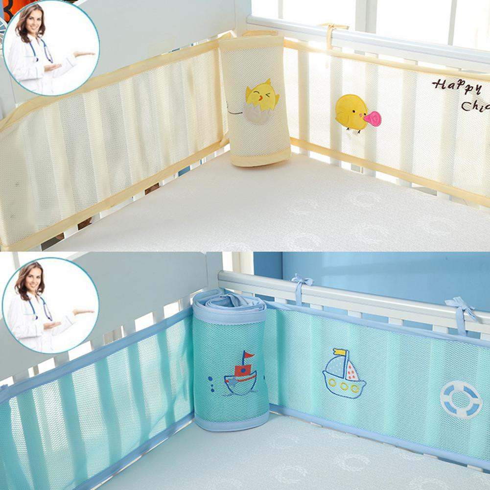 Kidlove 2pcs Baby Anti-collison Breathable Cartoon Printing Baby Safety Bed Fence Home Kids Safety Gate Products Child Care