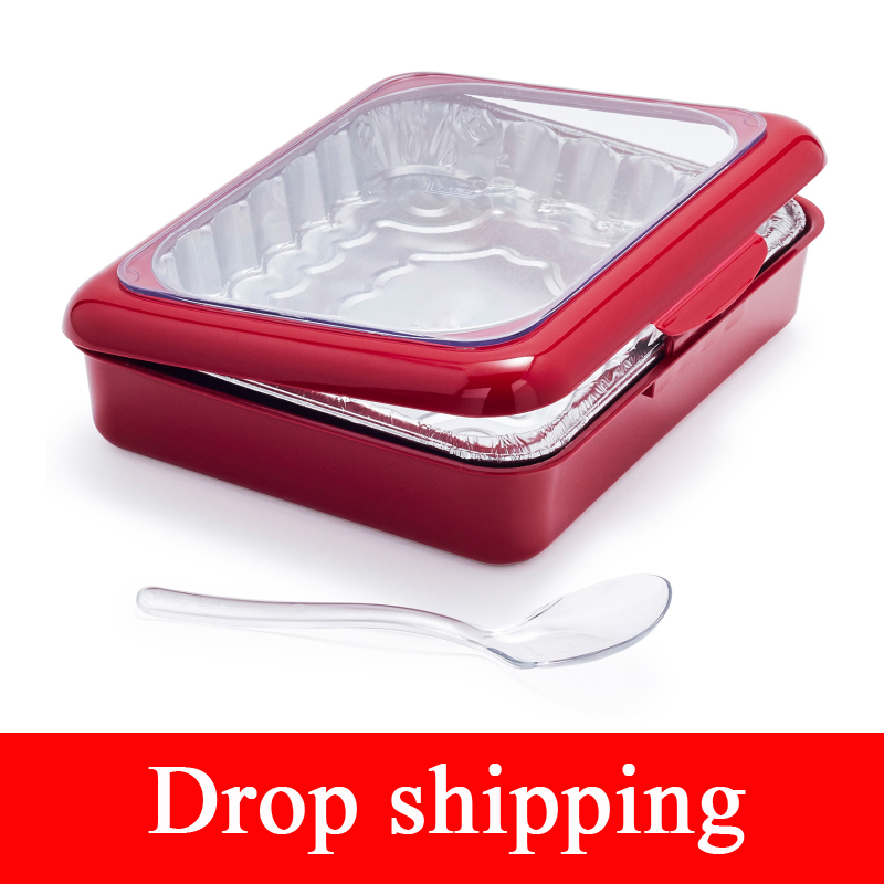 Portable Fancy Foil Panz 2 In 1 Casserole Carrier With Spoon For Indoor & Outdoor Use Fits Half Size Foil Pans Party Picnic Tool