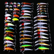 56PCS/Set 3/5/7/8/10cm Fishing Lures Silicone Soft Bait Double Color Carp Artificial Soft/Hard Fake Bionic Mixed Kit