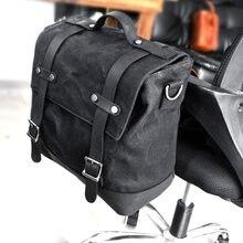 Sac de moto Vintage sac latéral boîte latérale sac de bagage sac de queue sac à bandoulière Paulin sac photo