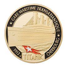 Титаническая Памятная коллекция монет подарок сувенир художественный металлический Collection коллекция монет