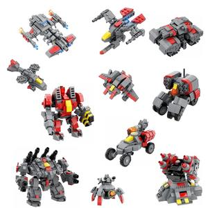 Modiker 2020 MOC Engineering Vehicle Cruiser Fighter Armored Mecha Bricks Model Small Particles Building Block