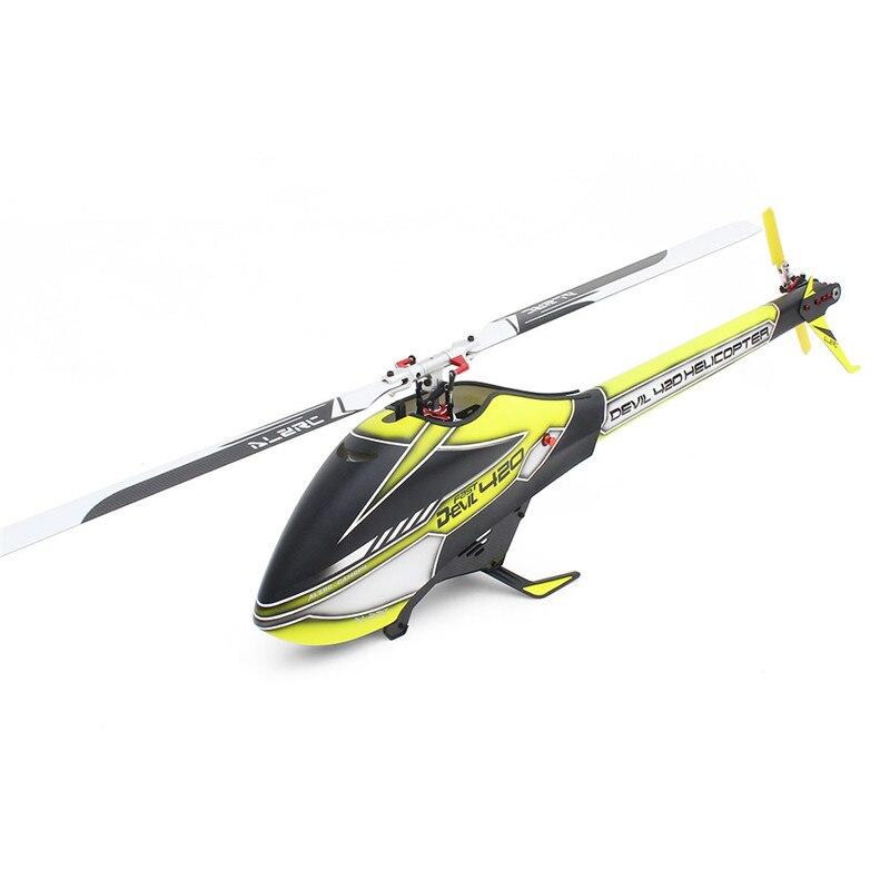 ALZRC Devil 420 FBL VELOCE 6CH 3D Rosso/Giallo/Verde Volare RC Elicottero Kit di Alta Qualità - 2