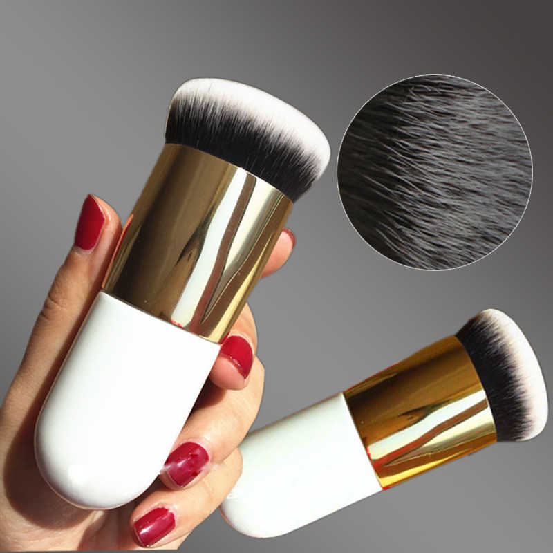 1 Pc Professionele Chubby Pier Foundation Brush 5 Kleur Make-Up Borstel Flat Crème Make-Up Kwasten Professionele Cosmetische Make-Up borstel