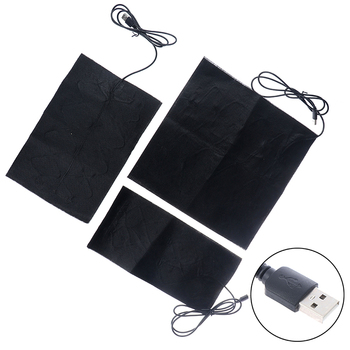 Almohadilla térmica USB de fibra de carbono de 5V, calentador de manos, película de calentamiento USB, esterilla térmica eléctrica de invierno infrarroja para fiebre, 1/2/4 Uds