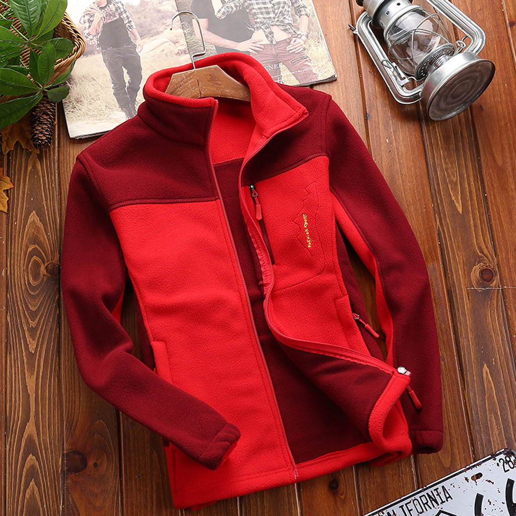 Fleece Jacket Liner Sport-Coat Thickening Men's Winter Zipper Warm Autumn And Collar title=