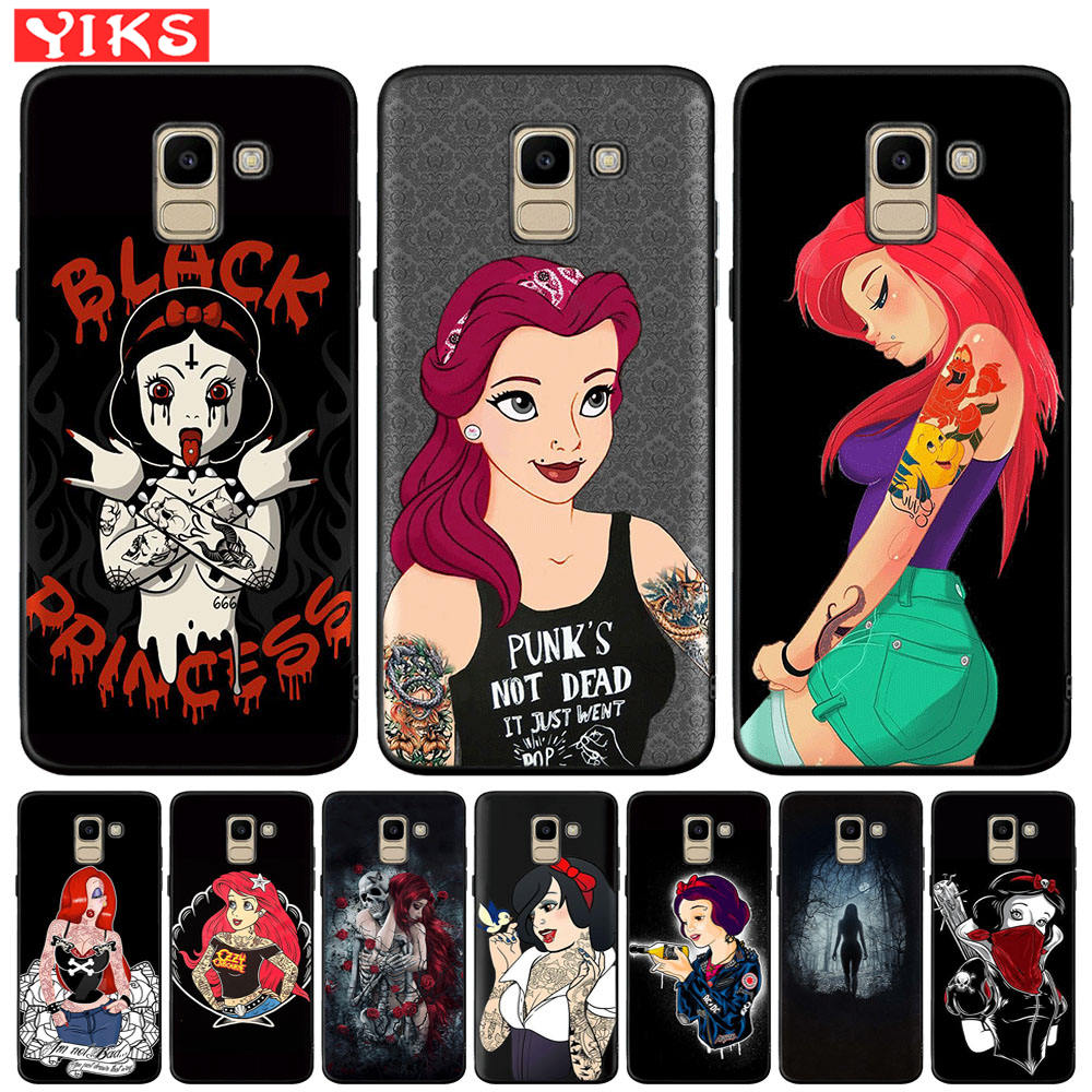For Samsung Galaxy J3 J5 <font><b>J7</b></font> <font><b>2016</b></font> 2017 J2 Pro 2018 J4 J6 Plus J8 2018 <font><b>Sexy</b></font> Sleeve Tattoo Girl Woman Soft TPU Phone Cover <font><b>Fundas</b></font> image