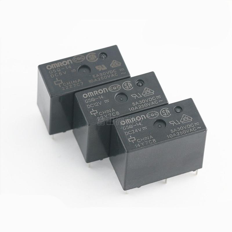 5pcs 10pcs G5Q-14-DC12V New Genuine Omron 5pins Relay 12VDC 12V