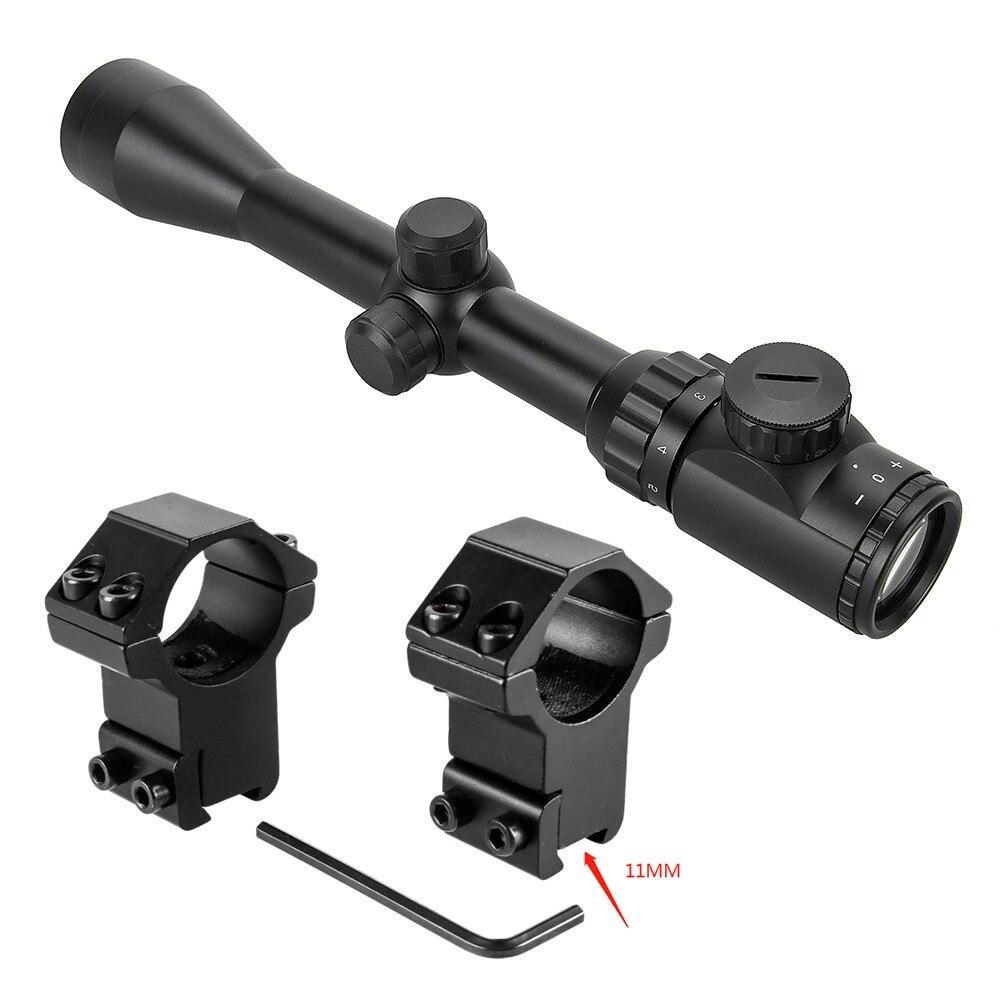 3-9x40 Optic Scope Red Green Rangefinder Illuminated Optical Sniper Rifle Scope Hunting Scopes Riflescope