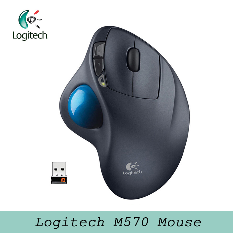 Logitech M570 Mouse With 2.4G Wireless Optical Trackball Ergonomic Mouse Gamer Support Official Test For Windos 10/8/7 Mac OS
