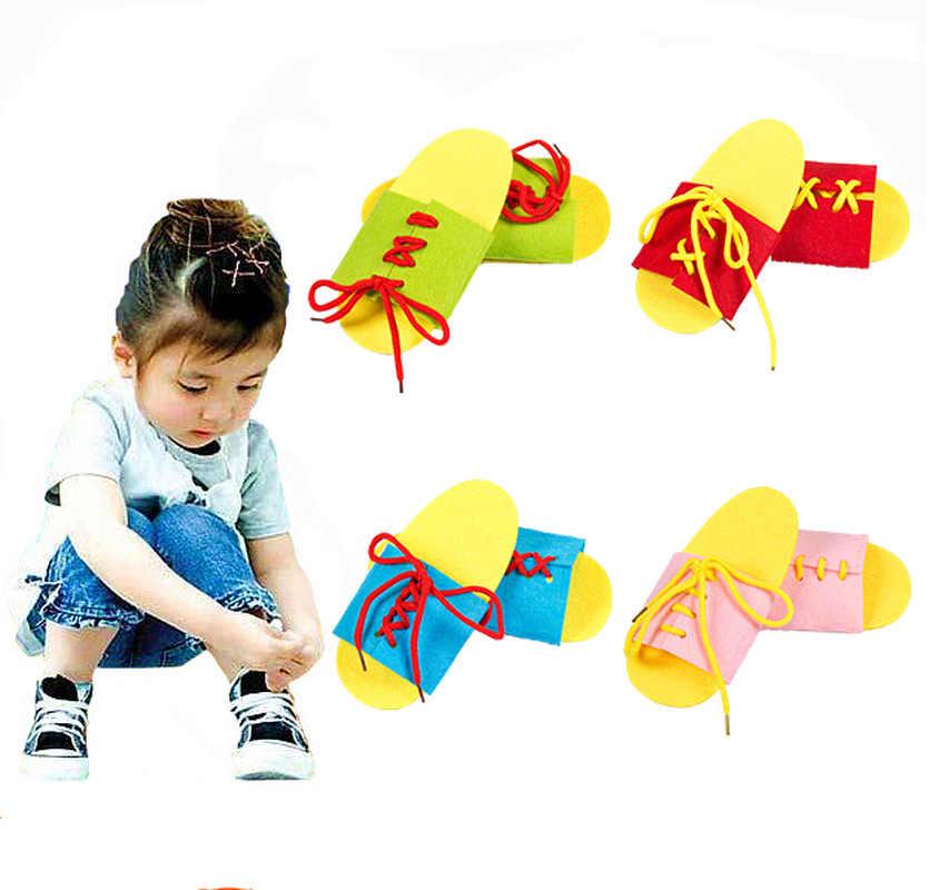 1 زوج جديد رياض الأطفال دليل DIY بها بنفسك نسج القماش المواد مونتيسوري الطفل التعليم المبكر التعليم وسائل تعليمية ألعاب الرياضيات