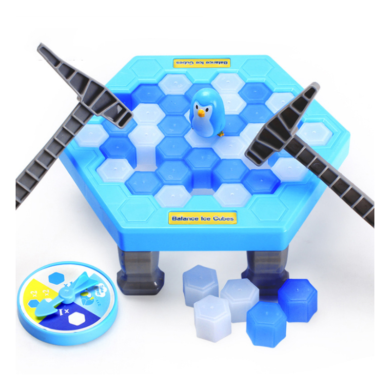 Kids Save Penguin Ice Puzzle Game Break Ice Block Hammer Trap Party Supplies Toy