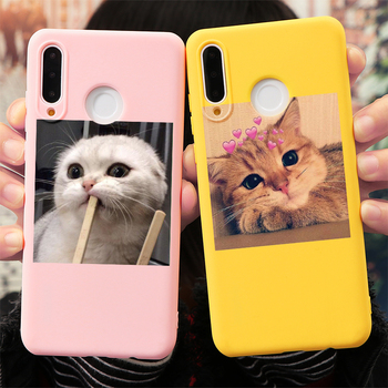 Cute Cat Silicon Cover For Huawei Honor 8X 9X 10i Mate 20 10 30 P40 P30 P10 P20 Lite Pro Y6 Y7 Y9 P Smart 2019 Z Phone Case Etui 1