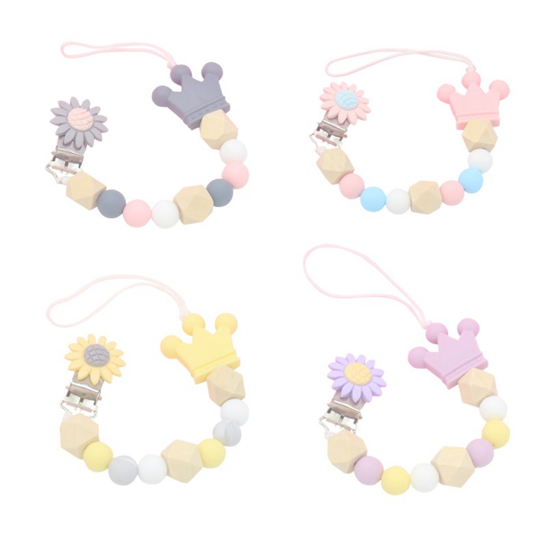 Baby Silicone Pacifier Chain Clip Holder Nipple Leash Strap Pacifier Soother Chain Holder Baby Gift