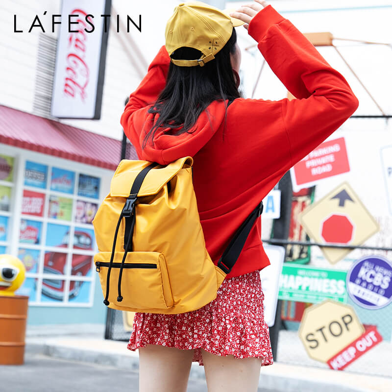 LAFESTIN 2019 New Female Backpack Fashion Shoulder Bag Large Capacity Backpack Women Lightweight Material Foldable