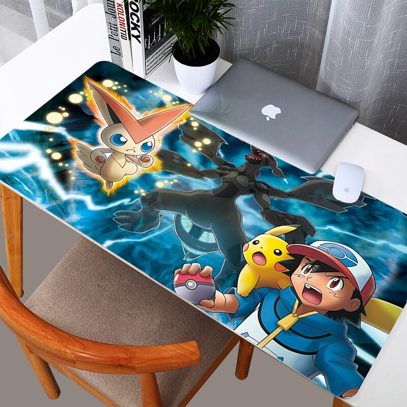 Cartoon Pokemons  Gaming Mouse Pad Large Mouse Pad Gamer Big Mouse Mat Computer Mousepad Rubber Mause Pad Game Keyboard Desk Mat 1