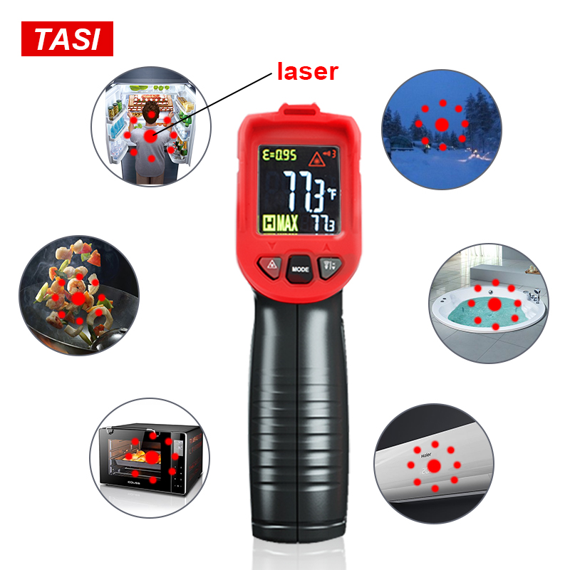 Image 4 - TASI 880 Degrees Celsius Colorful Display High Temperature Infrared Laser ThermometerTemperature Instruments   -