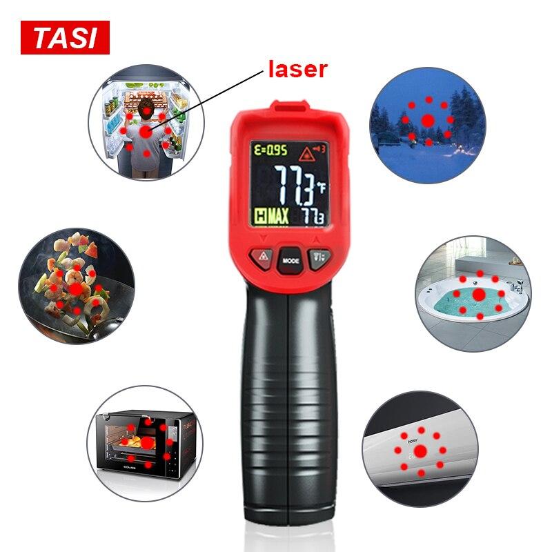 Image 4 - TASI 880 градусов Цельсия цветной дисплей высокая температура  инфракрасный лазерный термометрПриборы для измерения температуры   -