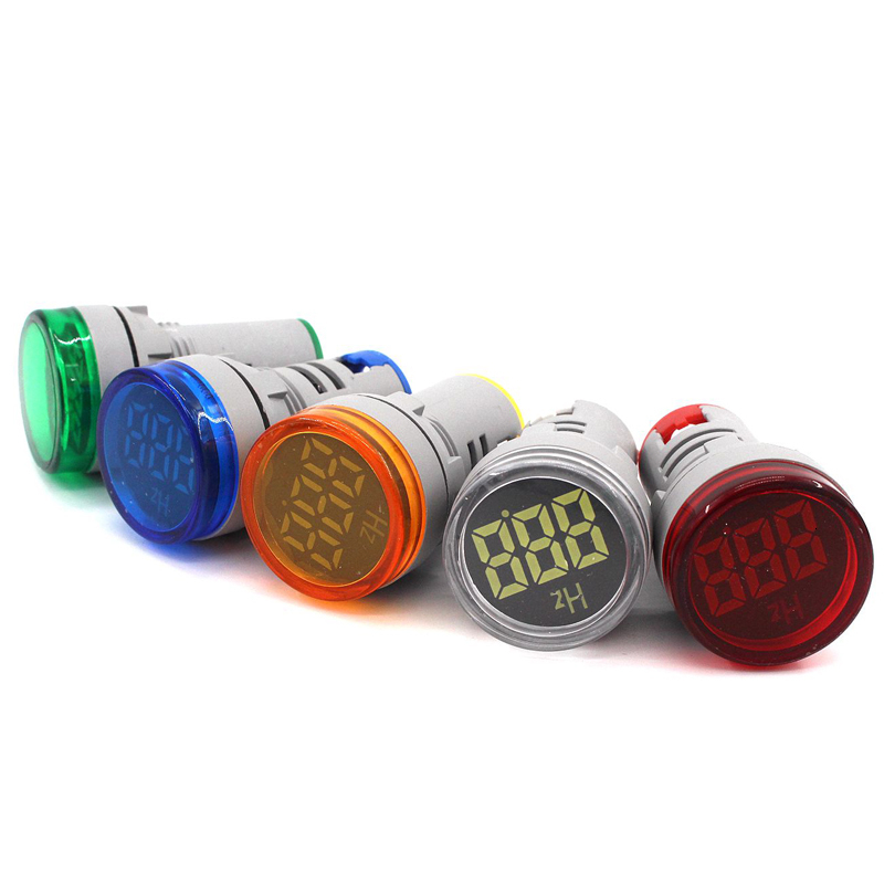 22mm LED AC Digital Display Frequency Table Gauge Hertz Meter Indicator Signal Lamp Voltmeter Lights Range 0-99Hz Warning Light