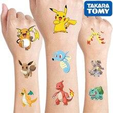 Pokemon Original Tattoo Kinder Aufkleber Zufällig 1sets Pikachu Action Figure Cartoon Kinder Mädchen Weihnachten Geburtstag Geschenke