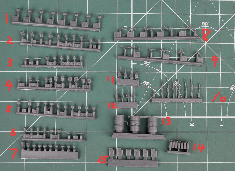 1/72 Resin Kits WWII German Equipment (1 Big Set) For Soliders Tanks And Trucks Model Accessory