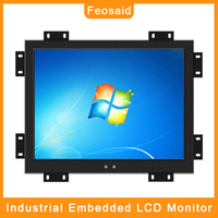Feosaid 17 inch industrial Computer monitor Metal Shell LCD Display with VGA HDMI DVI TV AV USB input for pc