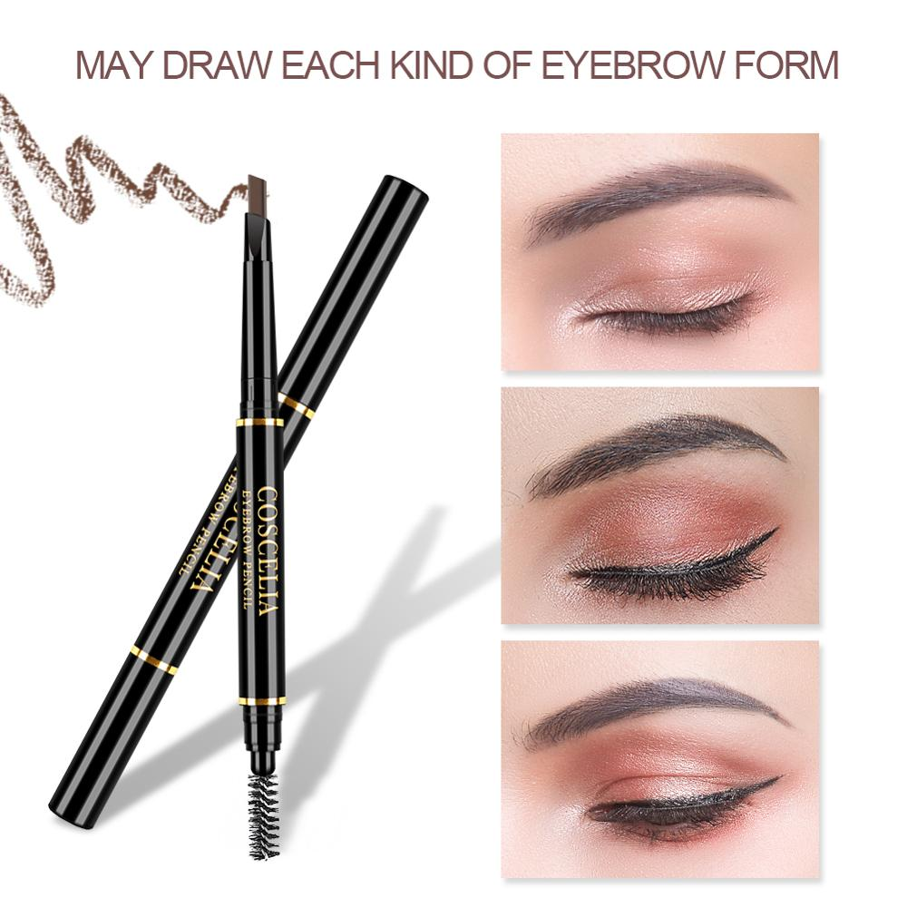 Eyebrow Pencil Double Head Manual Rotation Eyebrow Pencil Waterproof Durable Makeup Is Not Blooming Tattoo Dyed Pen