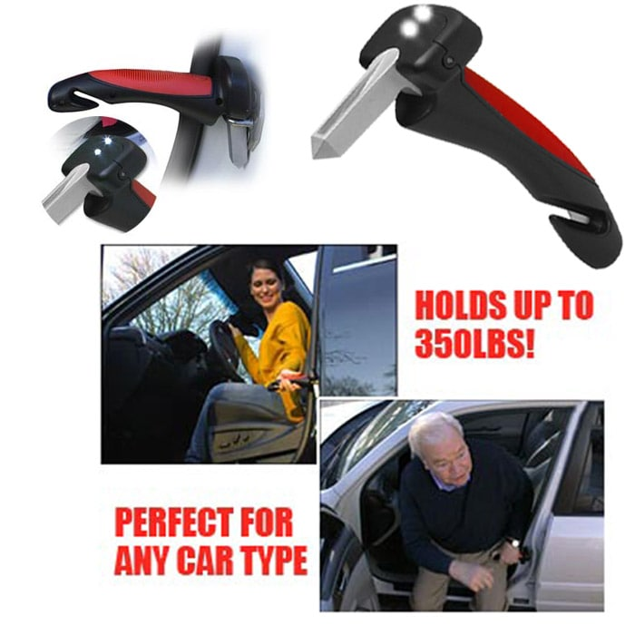 50% OFF Car SeatBelt Cutter Emergency Glass Breaker Autobar Support Cane Handle Aid Stand Grab Bar Door Support