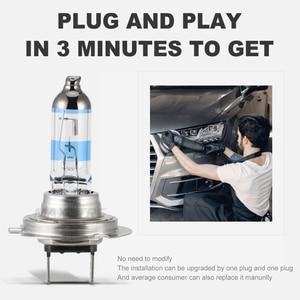 Image 3 - 2x 100W H1 H7 H8 H11 9005 HB3 9006 HB4 HeadLight HOD Xtreme Lamp 4300K Xenon White Blue Glass Replacement Car Halogen Light Bulb