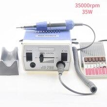 Электрическая машинка для маникюра и педикюра, 35 Вт, 35000 об/мин, набор инструментов для полировки ногтей, шлифовальный станок для гель лака