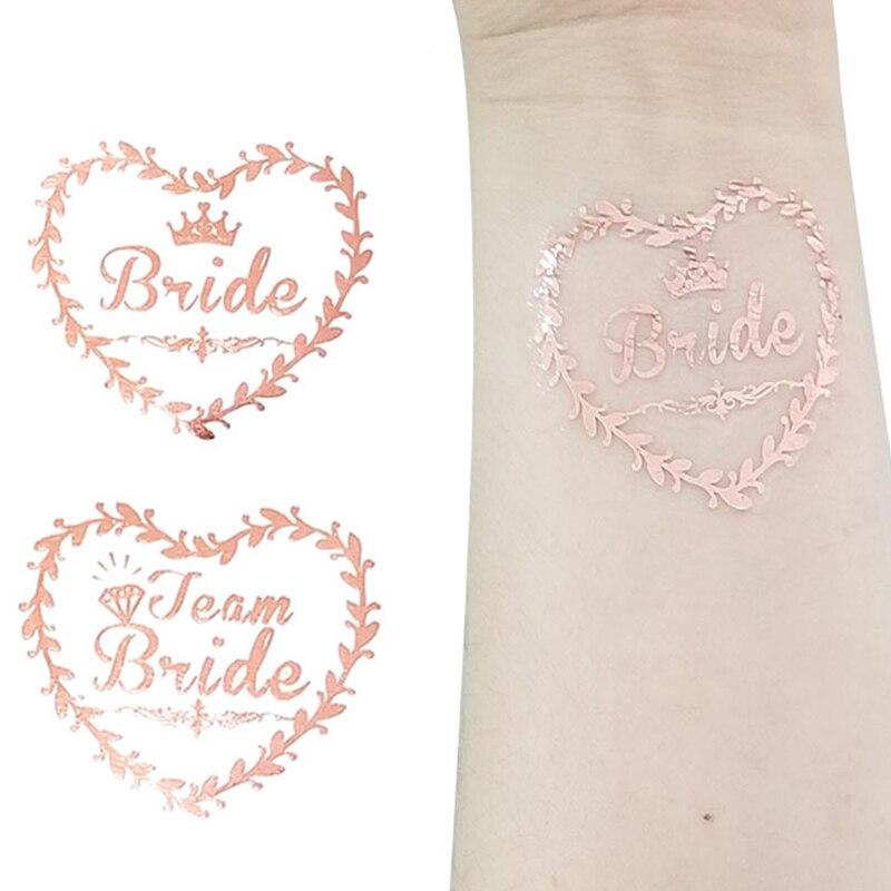 20pcs Team Bride Temporary Tattoos Stickers Wedding Decor Bride To Be Hen Bachelorette Party Decor Bridal Shower Girl Favors,Q