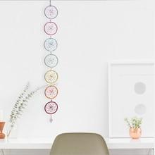 Chakra Dream Catcher with Crystal Chandelier Drop Prisms Suncatcher Handmade Rainbow Fengshui Pendant Home Garden Decoration