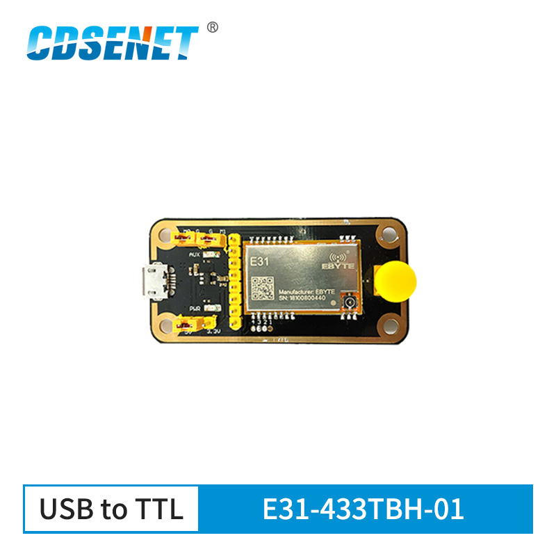 E31-433TBH-01 USB To TTL Test Board AX5243 30dBm 433MHz FEC IoT Wireless Transceiver Module