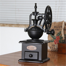 Vintage hand-cranked grinder, solid wood manual coffee ceramic core grind beans