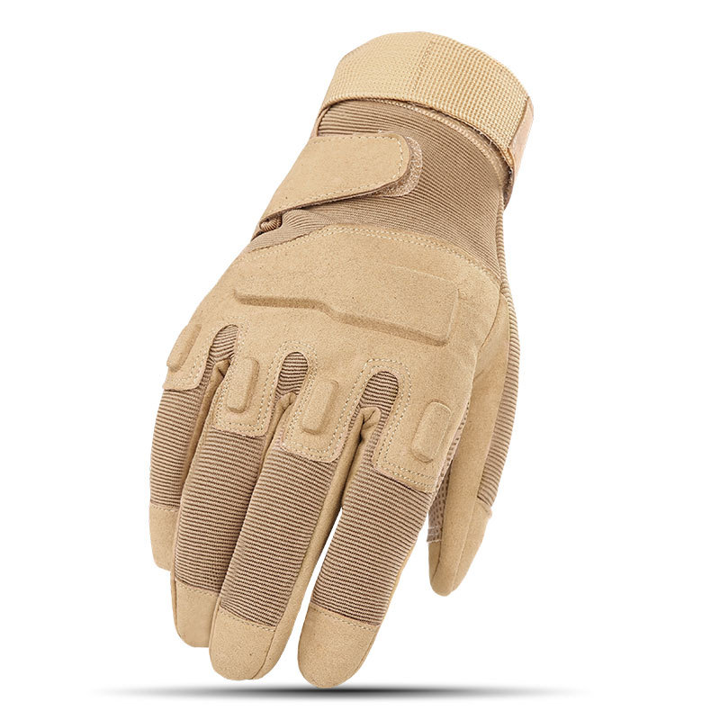 Atmungs Volle Finger Motorrad Handschuhe Leder Racing Motocross Biker Motorrad <font><b>Moto</b></font> Outdoor Sports Military Tactical image