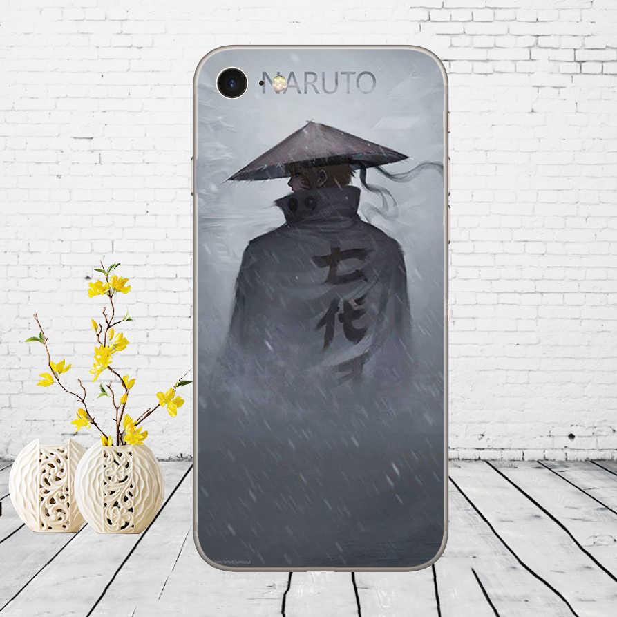 168DD Naruto Akatsuki Clan Cloud Symbool Soft Silicone Cover Case Voor Iphone 5 5S Se 6 6S 8 plus 7 7 Plus X Xs Sr Max Case