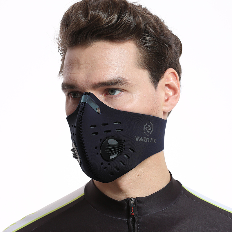Men Women Activated Carbon Cycling Face Mask  Filter Breathable Dustproof Outdoor Sport Protection Mouth-Muffle Face Mask