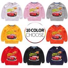Children Sweatshirt Hoodies Kids Boys Girls Toddler Autumn Spring Tops Clothing Clothes Print Car Cartoon Cotton Winter цены