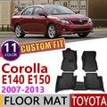 Кожаные автомобильные коврики на заказ для Toyota Corolla Altis E140 E150 2007 ~ 2013 5 мест коврик для ног Аксессуары для ковров 2008 2009 2010