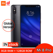 "Global Version Xiaomi Mi 8 Pro 8GB 128GB Smartphone Snapdragon 845 6.21"" AMOLED Display Mobile Phone 12MP Dual Camera 3000mAh"