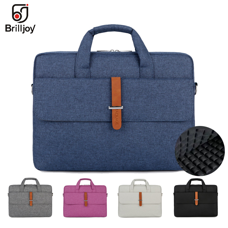 Brilljoy Waterproof Men Women 13 14 15 15.6 Inch Laptop Briefcase Business Handbag For Men Large Capacity Messenger Shoulder Bag