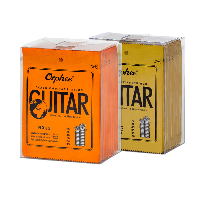 Orphee Guitar Strings Nylon NX Series Classical Acoustic Guitar String Silver Plated Wire Hard Normal Tension Guitar Tools Parts