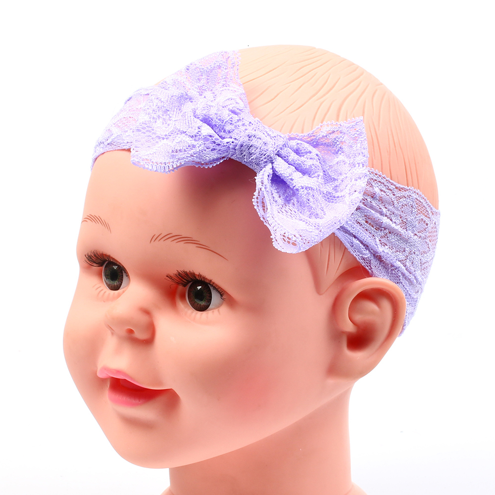 baby headband Infant girl hair band bows newborn Headwear tiara headwrap hairband Gift Toddlers Lace clothes